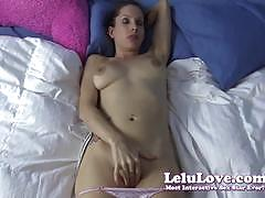 lelu love, cumshot, masturbation, panties, amateur, homemade, pov, makeup, instruction, masturbating