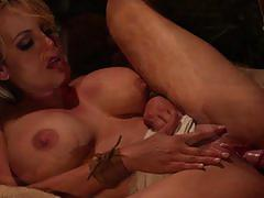 stormy daniels, blowjob, riding, big tits, cumshot, blonde, cowgirl, pussy licking, condom, sucking