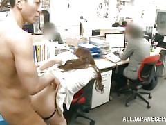 Naughty yuna gets pounded in the office
