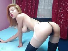Sexy redhead teasing