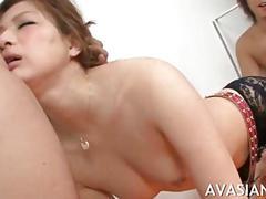 Fetish horny jap teacher s hairy holes deep toyed