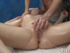 Pale raven gladly sucks and fucks her masseur all oiled up
