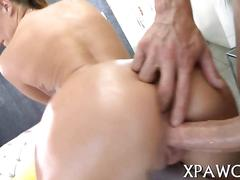 Big ass tart gets her pussy and ass jammed doggystyle