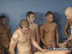 Gay interracial orgy compilation video