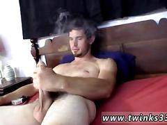 Jerking that fat dick and having a smoke