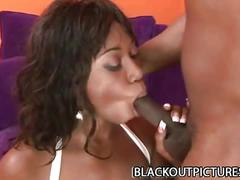 Big tittied black babe delotta brown finds joy in black monster cock