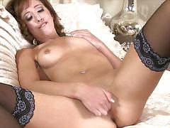 Sexy in stockings eva kay gets her pussy cummi...