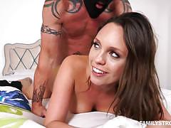 Jade nile rides her sweet pussy on top