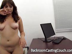 Rampant brunette fucked in casting