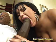 Brazilian milf gets her ass hammered