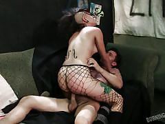 Luscious punk girl wants to ride dick
