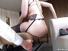 small tits, high heels, masturbation, stockings, big booty, blonde babe, ass grabbing, pawg, bangbros network, vanessa cage