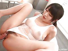 japanese, swimsuit, brunette, censored, cock riding, busty babe, hard fucking, big tits tokyo, all japanese pass, arisa misato