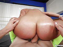 anal, big ass, babe, big dick, from behind, cock riding, knee socks, at gym, ass parade, bangbros network, jmac, kelsi monroe