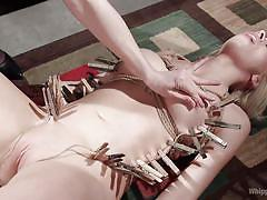 milf, fisting, bdsm, lesbians, babe, domination, busty, clothespins, rope bondage, whipped ass, kink, chanel preston, zoey monroe