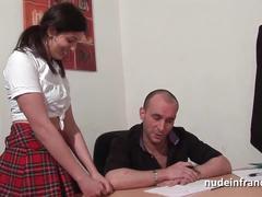 Arab schoolgirl hard anal fucked on her desk