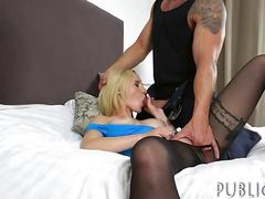 amateur, big boobs, blowjob, hardcore, public, blonde, fucking, sucking, stockings, spooning