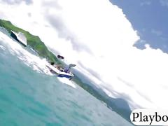 Big tits hot babes try out kite surfing with the professionals