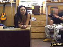 Bitch pawns her old mink coat and fucked by nasty pawn guy