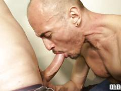 Matured gay anal fucked by young twink