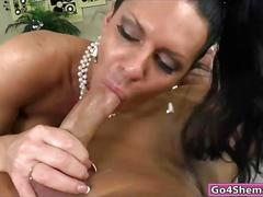 Busty tranny lina cavalli ass rammed and cum in mouth