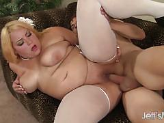 Horny bbw gets her pussy filled with cock