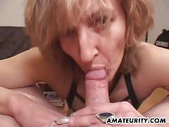 blowjob, hardcore, cumshot, swallow, milf, wife, housewife, mom, cougar, amateur, homemade, cum in mouth