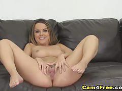 Seductive babe rides this hard cock