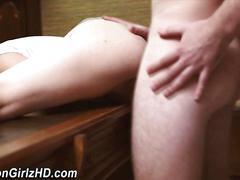 Amateur mormon cum soaked masturbation