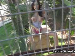 Bigtit licks cock through cage