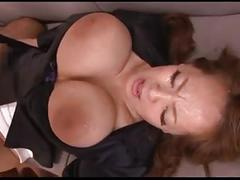Bukkake & squirt for sexy asian woman