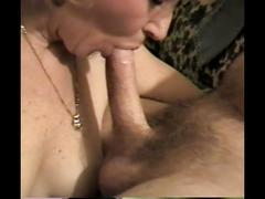 Amateur milf sucking and swallowing again