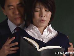 milf, old man, japanese, schoolgirl, teacher, busty, brunette, censored, nipple licking, jp teacher, all japanese pass, rin ogawa