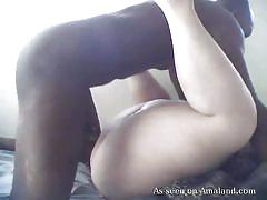 Black cock fucks fat white chick