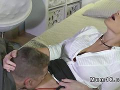 Pretty blonde milf licked and fucked