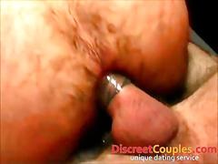 Rough gay orgy on a newbie