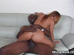 Japanese babe fucked from behind