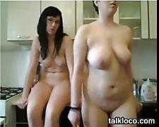 Three naked webcam girls teasing