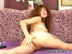 Sexy slut from russia masturbates