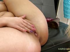 Horny lesbians playing with dildo film