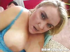 Blonde bbw bitch gets banged