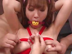 Rough asian bondage along sexy sana anzyu