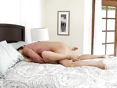 cherie deville, blowjob, cumshot, blonde, deep throat, mature, spooning, sucking