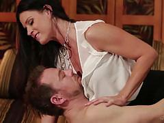 Cock riding mature brunette india summers