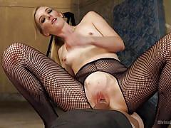 handjob, femdom, mistress, slave, tied up, strapon anal, blonde babe, cock ride, fishnets, divine bitches, kink, nathan explosion, mona wales