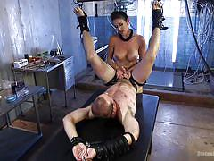 femdom, mistress, slave, busty milf, tied up, pegging, strapon anal, device bondage, in shackles, divine bitches, kink, jonah marx, felony