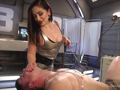 Futuristic medical fetish dungeon