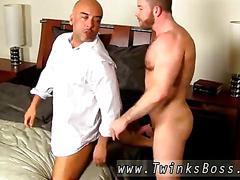 Hot young cute boy shirtless colleague butt banging