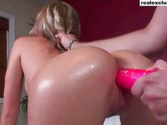 amateur, blonde, orgasm, ass, babe, dildo, masturbation