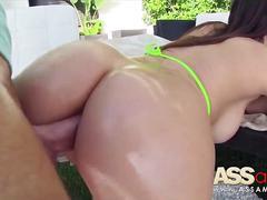 anal, ass, babe, brunette, doggystyle, italian, outdoors, ass eating